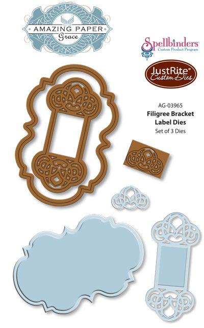 AG-03965 Fiigree Bracket Label Dies WEB