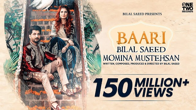 Baari Song  Lyrics in Urdu/Hindi  -Baari by Bilal Saeed and Momina Mustehsan