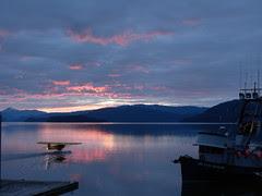 Sunset on Wrangell Harbor, Alaska