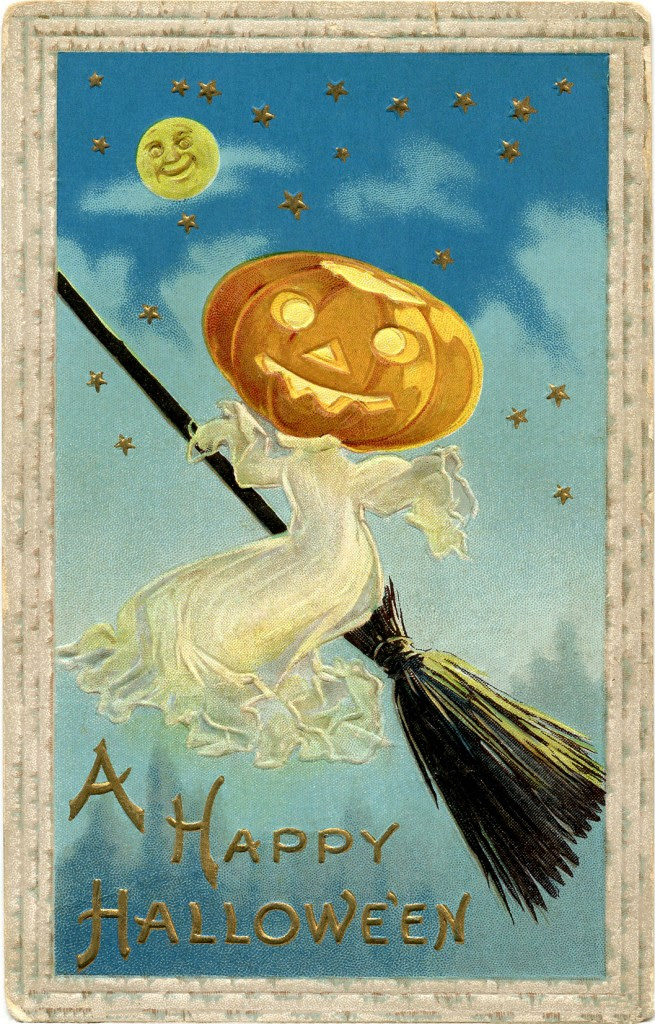 Vintage Halloween Image Free - Ghost