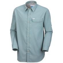 Columbia Sportswear Bug Shield Shirt - UPF 30, Long Sleeve (For Men) in Stone Blue - Closeouts