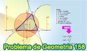 Problema de Geometría 158 (ESL): Triangulo, Relación entre el Inradio, Circunradio y Exradios, Circuncentro, Circunferencia Circunscrita, Flecha o Sagita, Incentro, Excentro, Perpendicular..