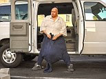 Before: Wesley Warren spent five years of his life wearing hoodies as pants, with the hood carrying his enormous scrotum