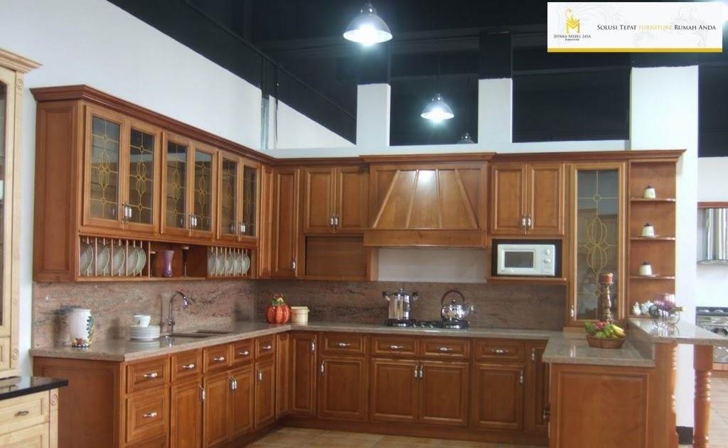 52 Design Kitchen Set Kayu Jati Konsep Terpopuler