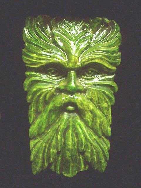 Wise Old Greenman Wall Hanging Celtic Home by TheNeonGargoyle