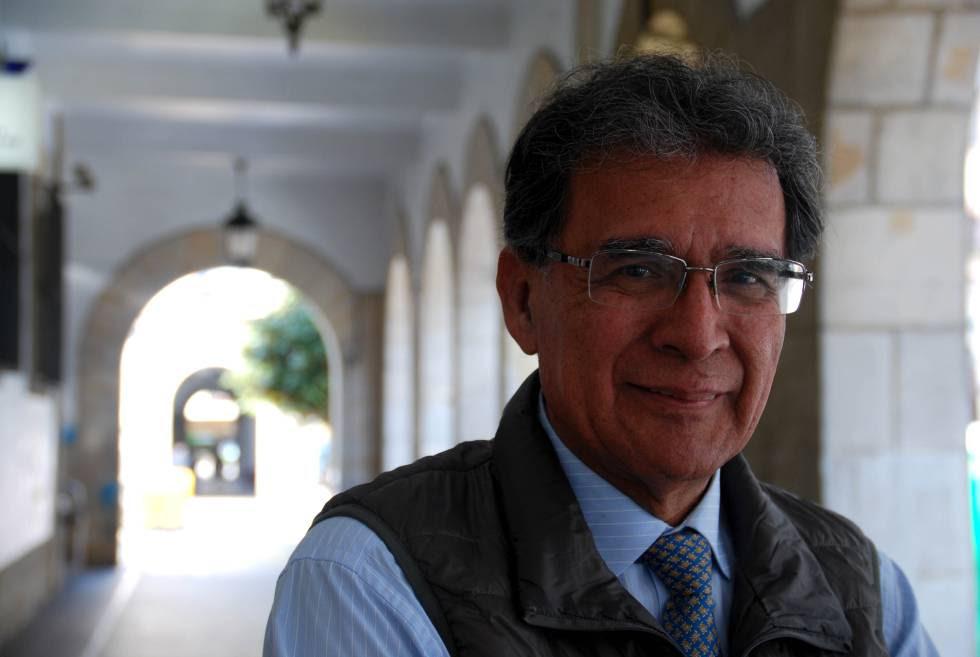 Camilo González Posso, director del Instituto de Estudios para el Desarrollo y la Paz de Colombia, Indepaz, durante su visita a Gernika.