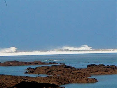 The tsunami continues to get bigger - Photo by John Knill and Jackie Knill