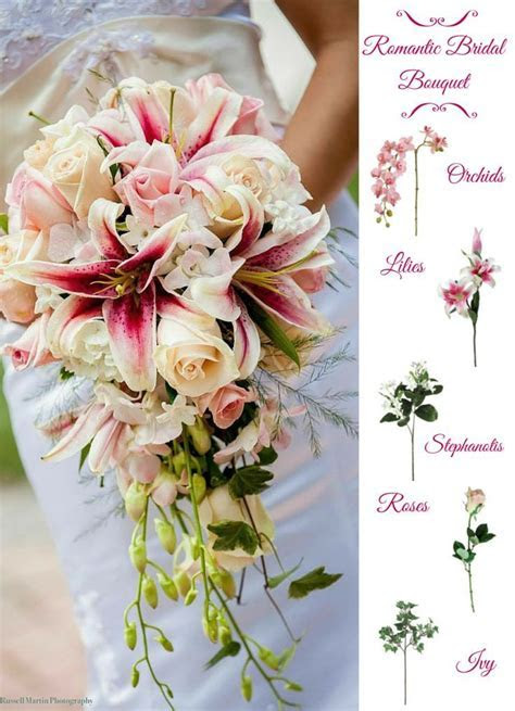 Make your own romantic bridal bouquet with silk flowers