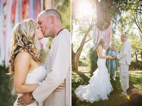 Chelsea   Evan   A bohemian Reggae wedding at a Woodland