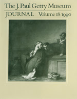The J. Paul Getty Museum Journal: Volume 18/1990