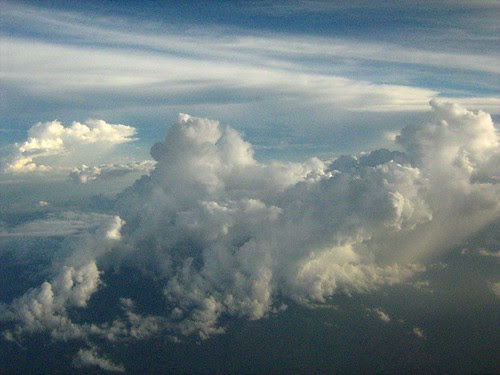 View of the clouds from my plane