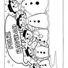 Dibujos Para Colorear Muñeco De Nieve Para Navidad Eshellokidscom