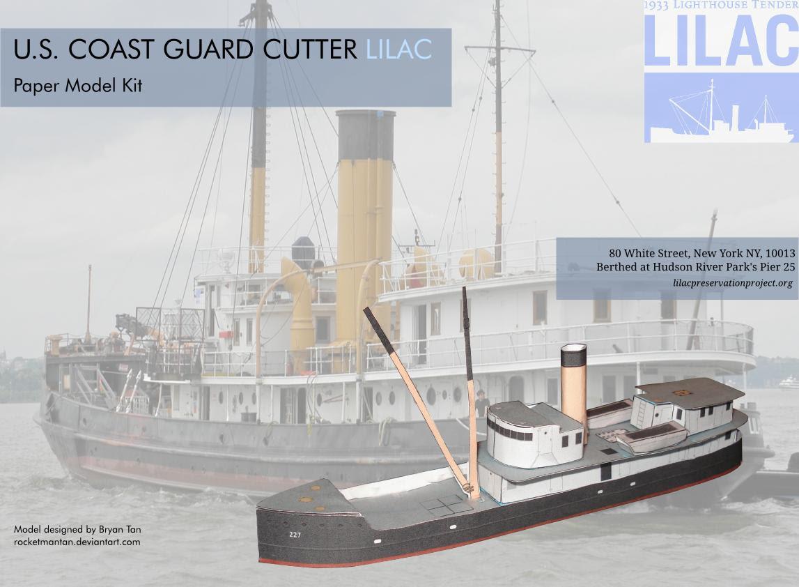 US Coast Guard Lilac Papercraft