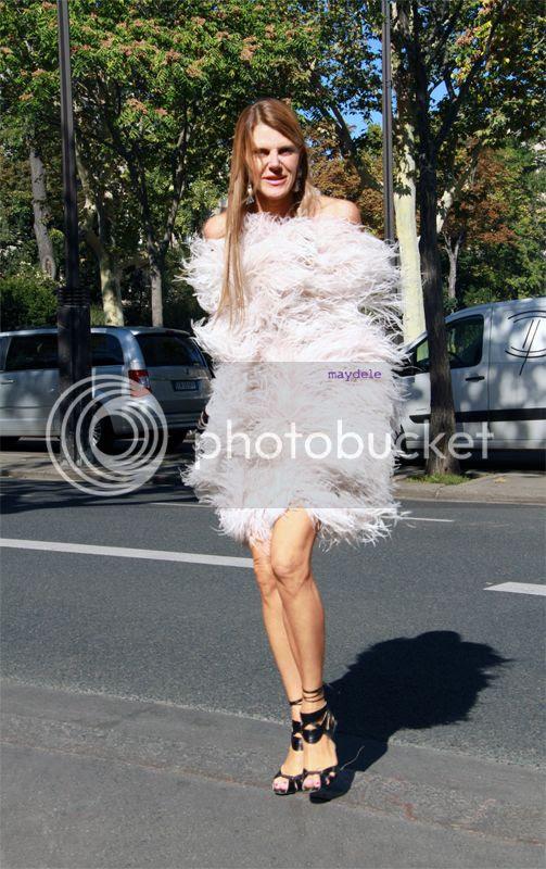 Anna dello Russo wearing Alexander McQueen fall winter 2012/13 runway dress