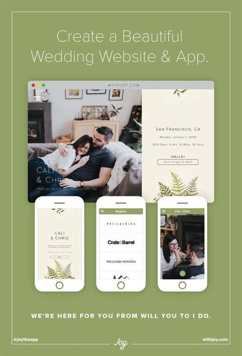 34 best Joy Wedding Website Themes images on Pinterest
