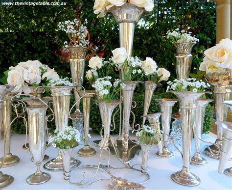 great gatsby table decor   Vintage 1920s Silver 'Great