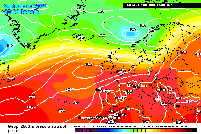 GFS-Temperature at 500 hPa - Weather Alert Online
