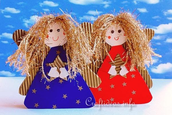 Paper Angels With Golden Hair 1