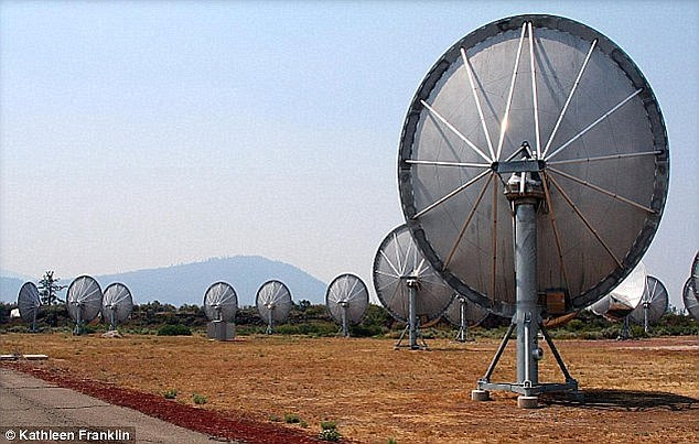 Two SETI research groups will track HD 164595 tonight using the Allen Telescope Array (pictured) in northern California and the Boquete Optical SETI Observatory in Panama