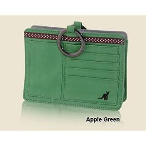 Pouchee PAPL Apple Green Cotton Purse Organizer