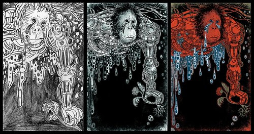 Genesis (sketch, drawing and final) - Yuko Shimizu