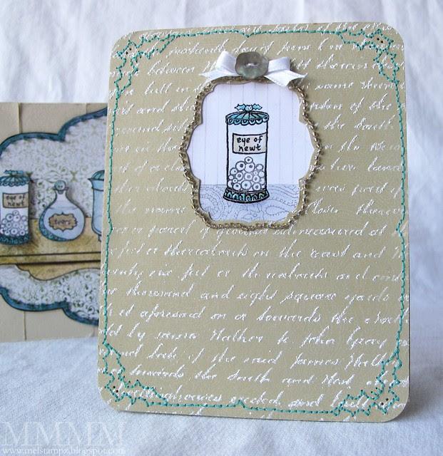 Apothescary jar freebie card mel stampz