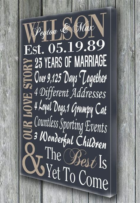 Personalized 5th 15th 25th 50th Anniversary Gift, Wedding