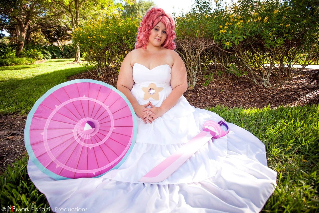 Myself as Rose Quartz (@kecharacosplay) Photo by Mark Pariani Productions Note: I made everything myself. Wig is Arda Luthien and Curly Clip in Rose Pink, and two packs of long wefts in Baby Pink....