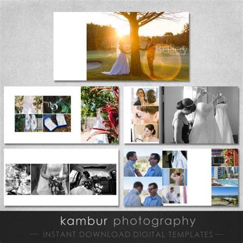 10X10 PSD (30 pages), Wedding Album Template   15 spread