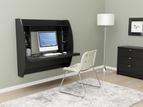 INNOVATIVE AND STYLISH WALL MOUNTED DESK WITH STORAGE