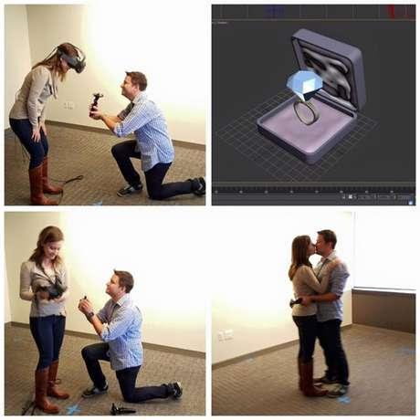 Chandler aplicó sus conocimientos tecnológicos para conseguir un momento romántico y original.
