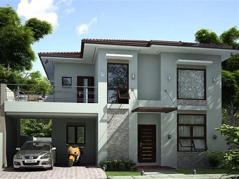 storey simple modern house design  ideas