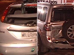 Acidente com quatro veículos deixa feridos na Av. Epitácio Pessoa, na Paraíba (Foto: Reprodução/TV Cabo Branco)