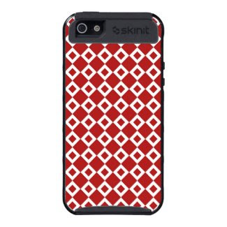 Red and White Diamond Pattern iPhone 5 Covers