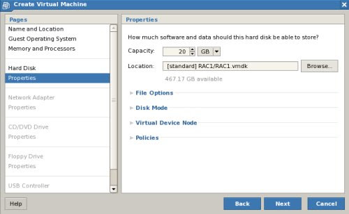 New Virtual Machine Wizard Disk Size