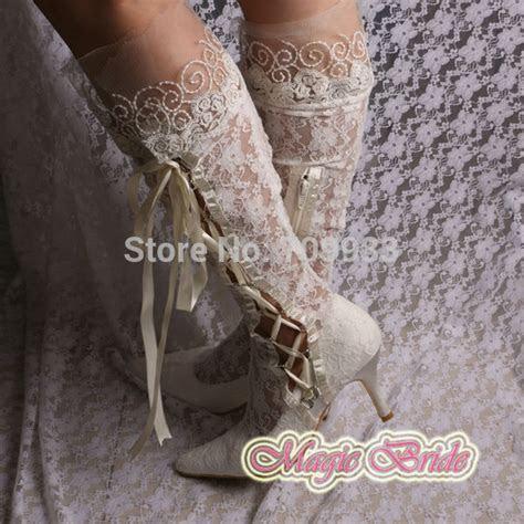 Big Discount 2015 Elegant Black White Lace Ladies Boots