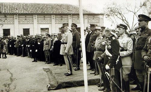 El Mariscal Philippe Pétain y Alfonso XIII en Toledo el 5 de febrero de 1926. Foto Rodríguez