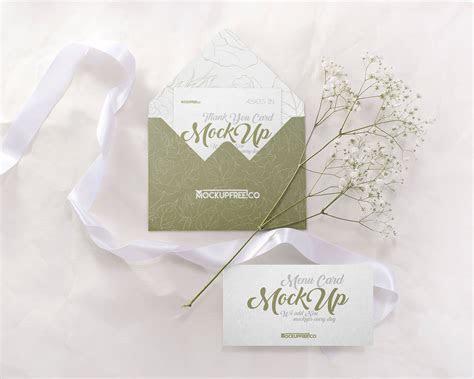Free Wedding Invitation Card Mockup PSD Set   Good Mockups