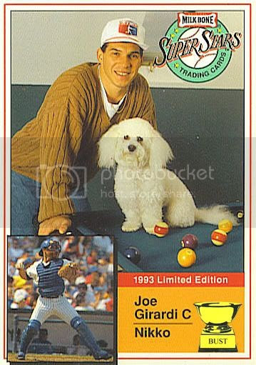 Baseball Card Bust Joe Girardi 1993 Milk Bone Super Stars