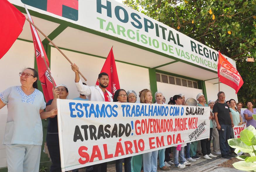 Resultado de imagem para saúde em greve rn