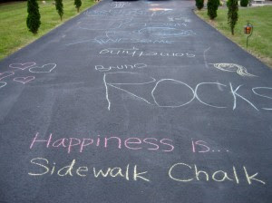 Happiness is... sidewalk chalk