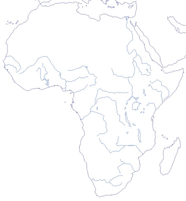 Mapa De Ríos De áfrica Mudo Saberia