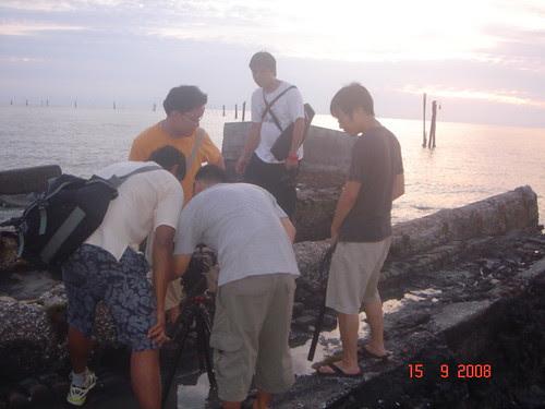 Preparing to shoot the sunset