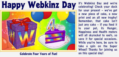 Webkinz Day!