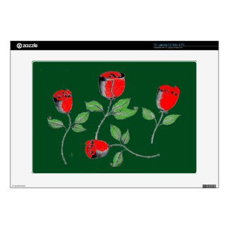 15 Inch Laptop Skin with Rose Art