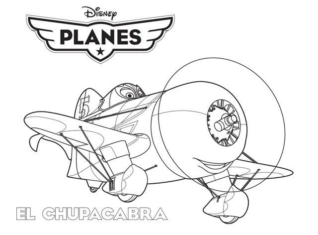 Coloriage A Imprimer Planes El Chupacabra Gratuit Et Colorier