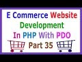 E Commerce Website Development In PHP With PDO Part 35 Creating Cart Tab...