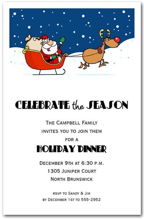 Santa's Take Off Holiday Invitation, Christmas Invitations