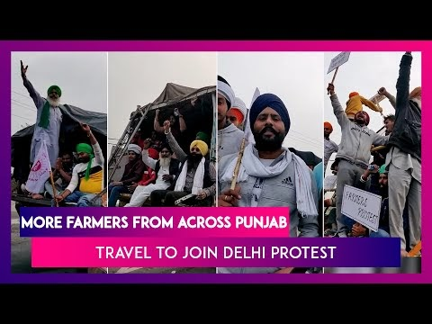 Farmers Throng Attari-Delhi Highway As They Travel To Join Farm Law Protest Against Modi Govt, Watch