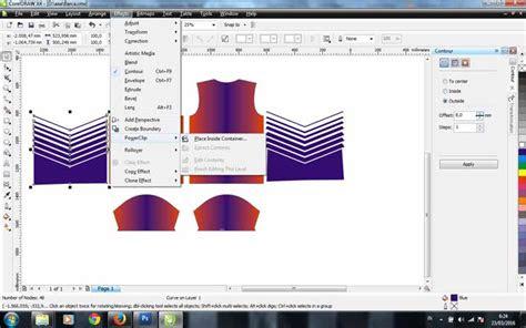 membuat desain jersey futsal  coreldraw